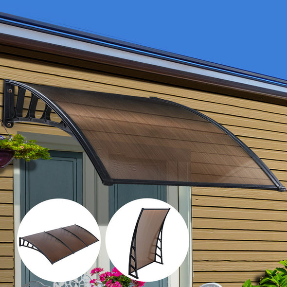 Instahut Window Door Awning Door Canopy Outdoor Patio Cover Shade 1.5mx3m DIY BR