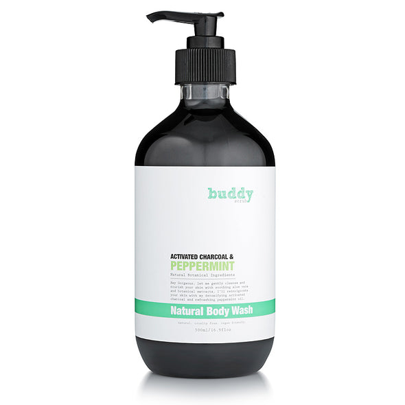 Activated Charcoal & Peppermint Body Wash - 500ml