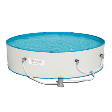 Bestway Swimming Pool Above Ground Pool 10ft Steel Sidewall Hydrium