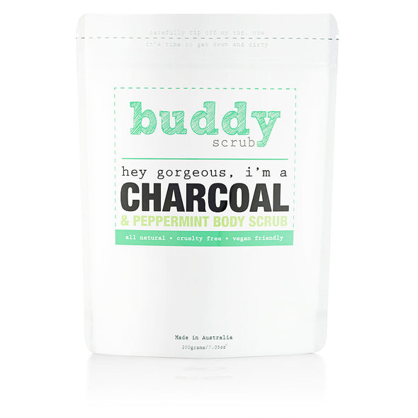 Activated Charcoal & Peppermint Body Scrub - 200g