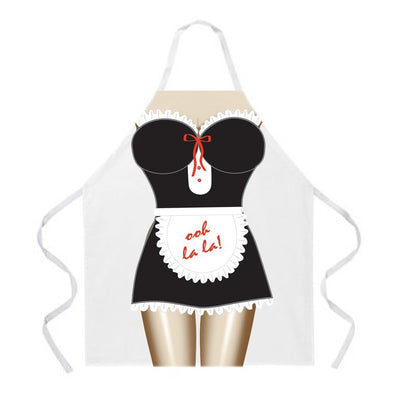 Cartoon Maid Cooking Apron