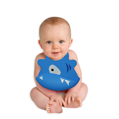 Reusable Silicone Baby Bibs - Blue