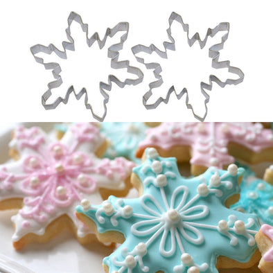2-Piece Snowflake Pastry Mould Set
