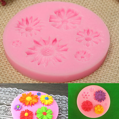 6-in-1 Cake Decorating Flower Moulds