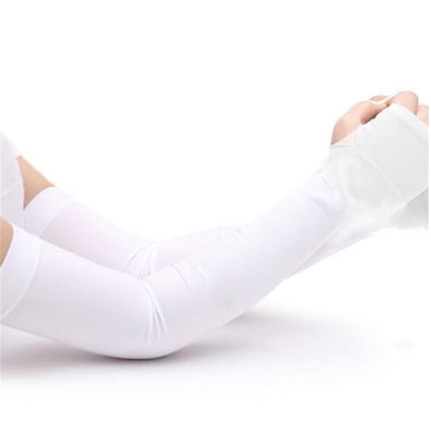 One Pair Arm Cooling Sleeves (White)