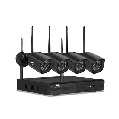 UL-TECH 1080P 8CH NVR Wireless 4 Security Cameras Set