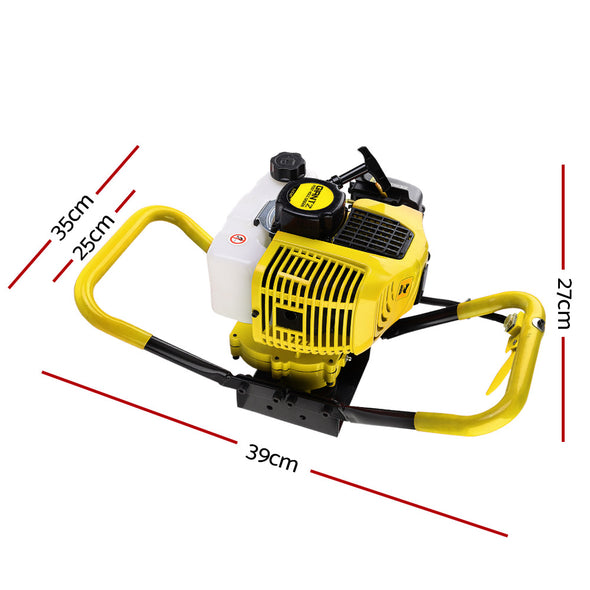 Giantz Post Hole Digger 66CC Petrol Only Engine Motor Earth Auger Borer Fence