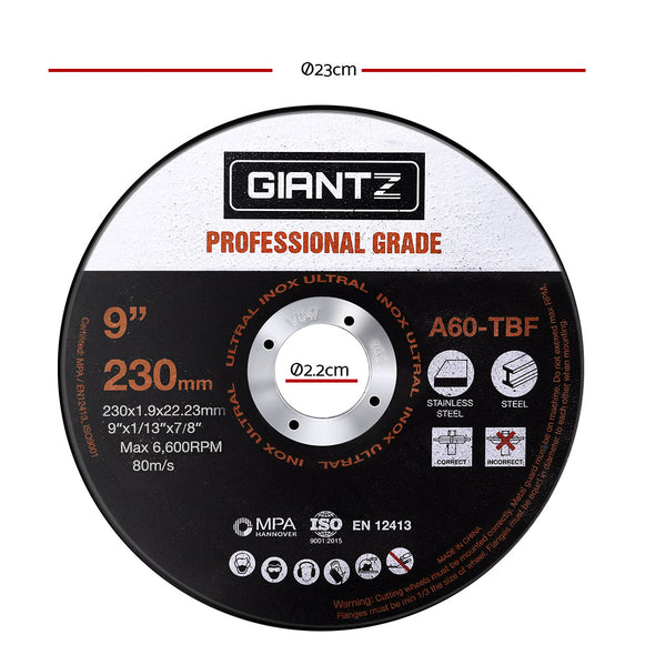 Giantz Cutting Disc 50pcs 230mm Metal Cut Off Wheel Angle Grinder Thin Steel