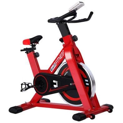 Everfit Spin Exercise Bike Cycling Fitness Commercial Home Workout Gym Red