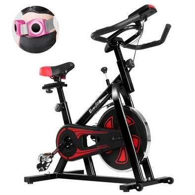 Everfit Spin Exercise Bike Cycling Fitness Commercial Home Workout Gym Equipment Black
