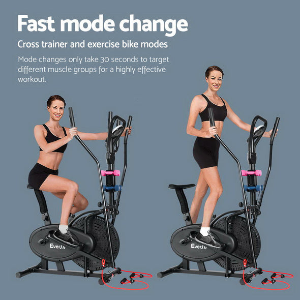 Everfit 6in1 Elliptical Cross Trainer Exercise Bike Bicycle Home Gym Fitness Machine Running Walking