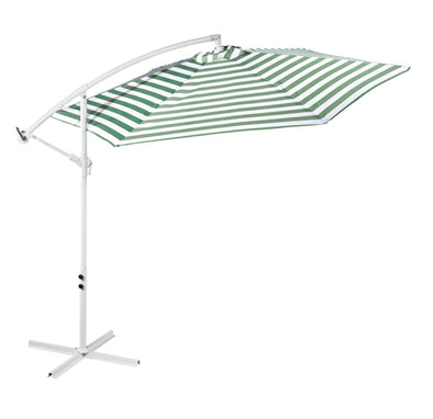 Outdoor Umbrella - Green and White Stripe