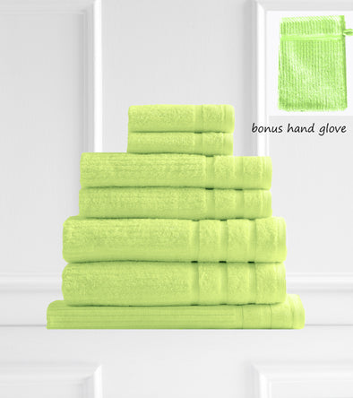 Royal Comfort Eden Egyptian Cotton 600 GSM 8 Piece Towel Pack Spearmint