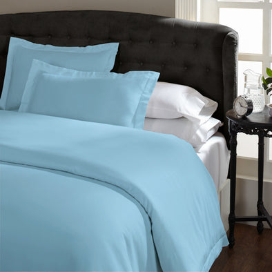 Royal Comfort 1500 Thread count Cotton Blend Quilt cover sets King Indigo