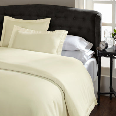 Royal Comfort 1500 Thread Count Cotton Rich Quilt Cover Sets Queen Ivory