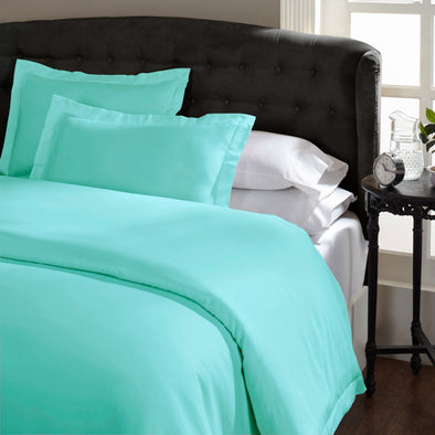 Royal Comfort 1500 Thread count Cotton Blend Quilt cover sets Queen Mist