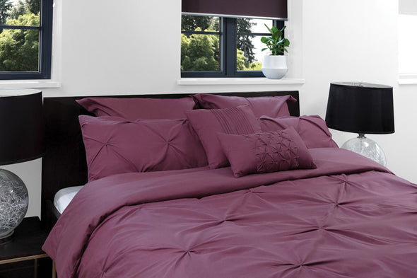 ROYAL COMFORT 7PCS PLEAT COMFORTER SET 150gsm Fill -DOUBLE TRUFFLE