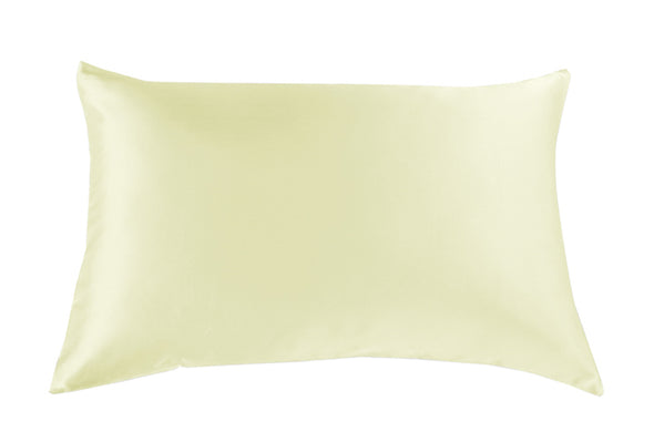 Silk Pillow Case Twin Pack - Size: 51X76Cm - Ivory
