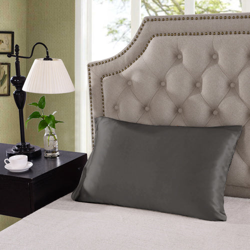 Silk Pillow Case Twin Pack - Size: 51X76Cm - Charcoal
