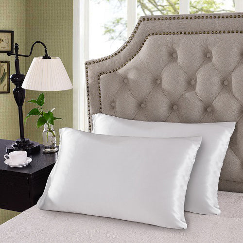 Royal Comfort Mulberry Silk Pillow Case Twin Pack - White