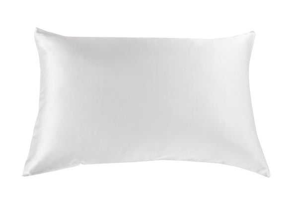 Silk Pillow Case Twin Pack - Size: 51X76Cm - White