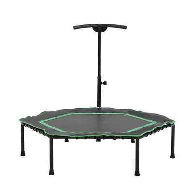 "Everfit 50"" Mini Trampoline Rebounder Handrail Fitness Exercise Jogger Cardio Workout"