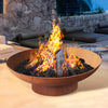 Grillz Fire Pit Charcoal Outdoor Heater Vintage Wood Burner Iron Brazier 90CM