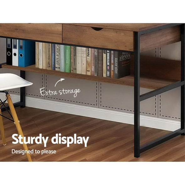 Artiss Office Computer Desk Study Table Workstation Student Bookshelf Storage Drawers
