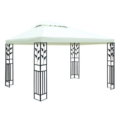 Instahut Gazebo 4x3m Marquee Outdoor Party Wedding Gazebos Tent Iron Art
