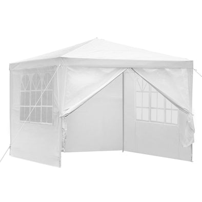 Instahut Gazebo 3x3m Outdoor Marquee Side Wall Party Wedding Tent Camping White 4 Panel