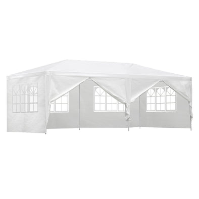 Instahut Gazebo 3x6m Outdoor Marquee Side Wall Party Wedding Tent Camping White 6 Panel