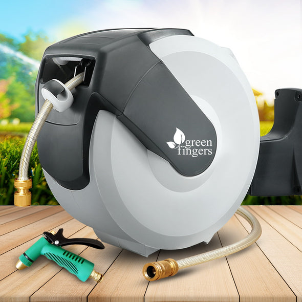 Green Fingers 30m Retractable Water Hose Reel