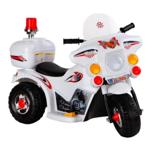 Kids Ride On Motorcycle - White