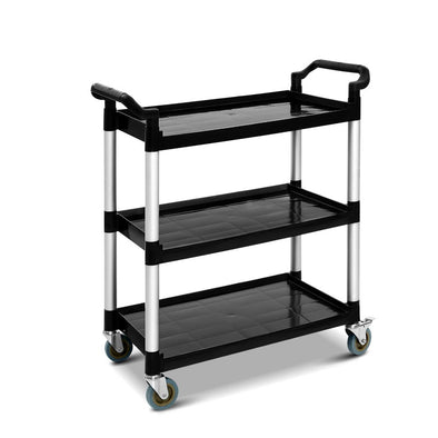 Emajin Service Cart Restaurant Trolley Kitchen Serving Catering Large Shelf