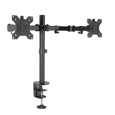 Dual LED Monitor Stand 2 Arm Hold Two LCD Screen TV Desk Mount Bracket