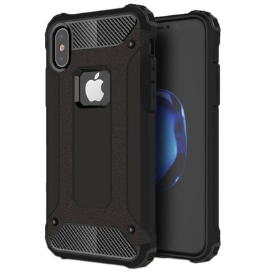 Rugged Armour Case for iPhone X - Black