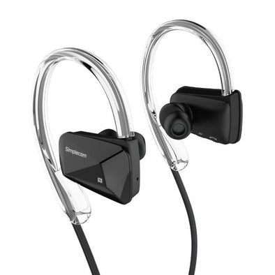 Simplecom NS200 Bluetooth Neckband Sports Headphones with NFC Black