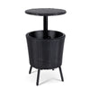 Bar Table Outdoor Setting Cooler Ice Bucket Storage Box Coffee Side Tables Party Pool Patio