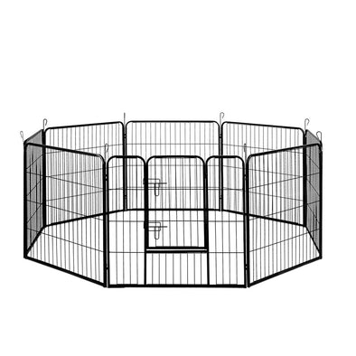 i.Pet 8 Panel Pet Dog Playpen Puppy Exercise Cage Enclosure Fence Play Pen 80x80cm