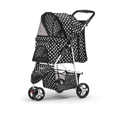 i.Pet Pet Stroller Dog Cage Foldable Pram Spot 3 Wheels