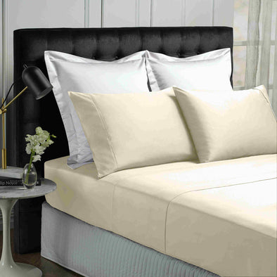 Park Avenue 500 Thread count Cotton Bamboo Sheet sets Single Vanilla