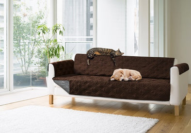Sprint Industries Pet's Sofa Cover -Love seat size Chocolate/Charcoal Reversible