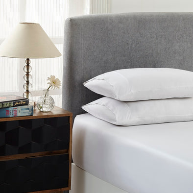 Royal Comfort 1500 Thread count Cotton Blend 3 Piece Fitted sheet Set Double White