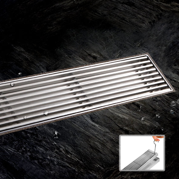 Cefito Bathroom 900mm Stainless Steel Shower Grate