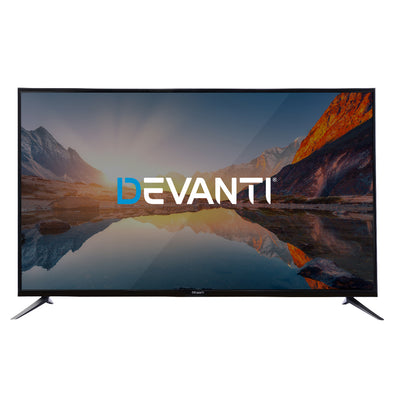 "Devanti LED Smart TV 65"" Inch 4K UHD HDR LCD TV Slim Thin Screen Netflix YouTube"