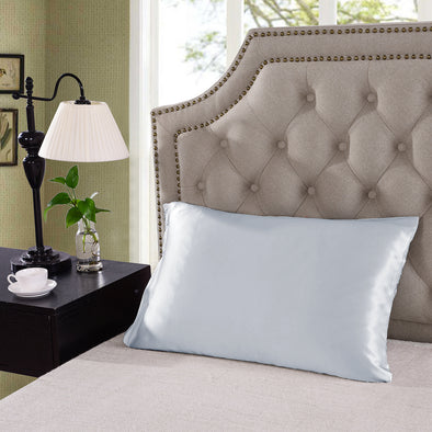 100% Dual-Sided Pure Silk Pillowcase by Royal Comfort - Silver