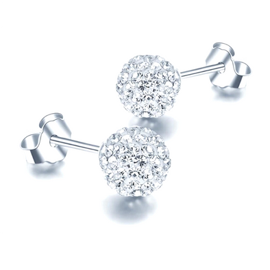 Orobelle Sterling Silver Bubbles Earrings featuring SWAROVSKI ® Crystals