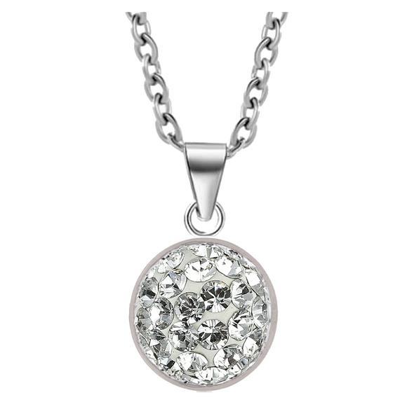 Orobelle Sterling Silver Domed Necklace featuring SWAROVSKI ® Crystals