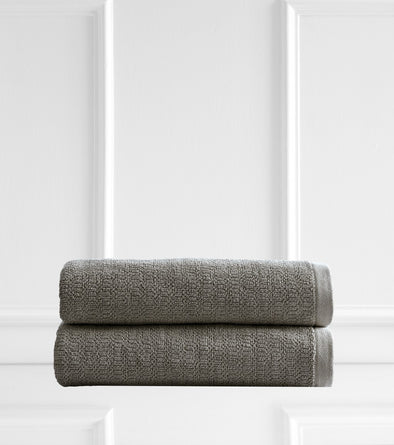 Style & Co Resort 600 GSM Egyptian Cotton Jacquard 2 Pack Bath Sheets - Latte