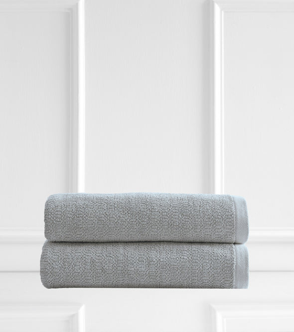 Style & Co Resort 600 GSM Egyptian Cotton Jacquard 2 Pack Bath Sheets - Mint